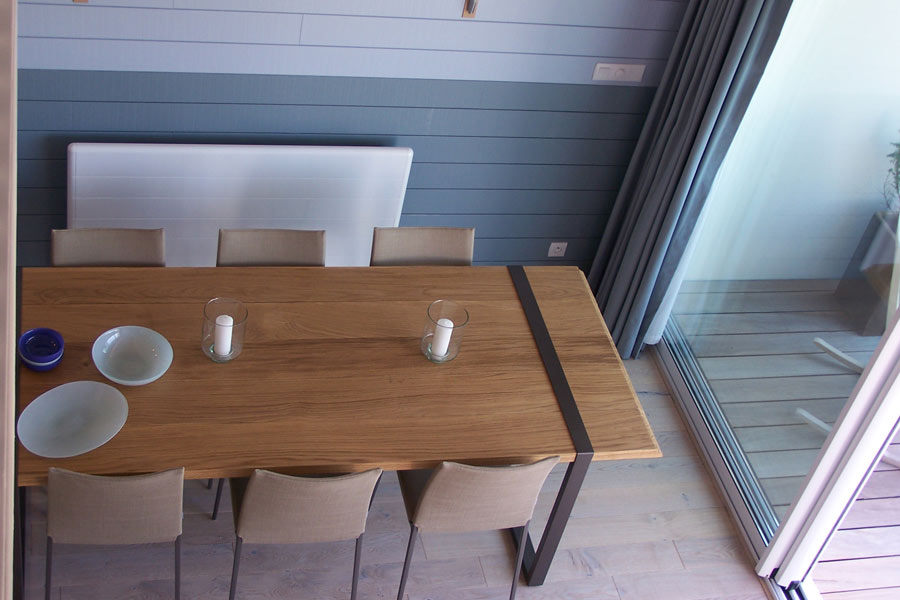 Table métal et bois