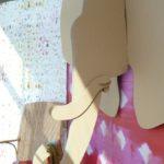 """Vitrine avec des papiers peints """"Kandy"""" d"""