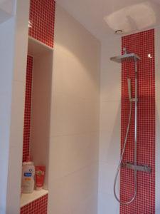 Réalisation de la cabine de douche