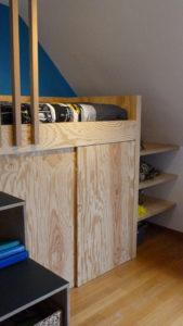 Lit mezzanine sur mesure pour toute petite chambre