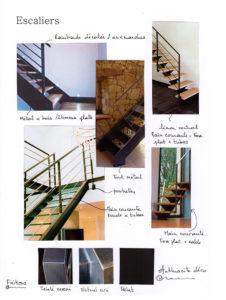 Planche d'idées pour choix de détails d'escalier en métal