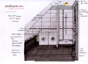 Perspective pour une salle de bain